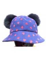 Шляпка с велюровым принтом MONE / МОНЕ