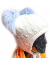 Теплая светлая шапка MONE / МОНЕ