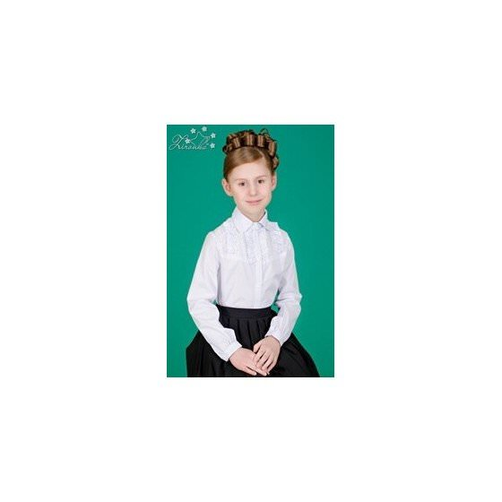 Школьная блузка с длинным рукавом ZIRONKA