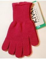 Шерстяные малиновые перчатки KIVAT - КИВАТ