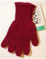 Шерстяные винного цвета перчатки KIVAT - КИВАТ