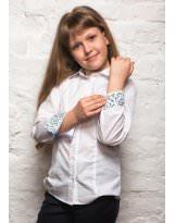 Блуза рубашка с длинным рукавом