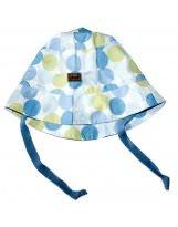 Летняя голубая панамка с завязками KIVAT