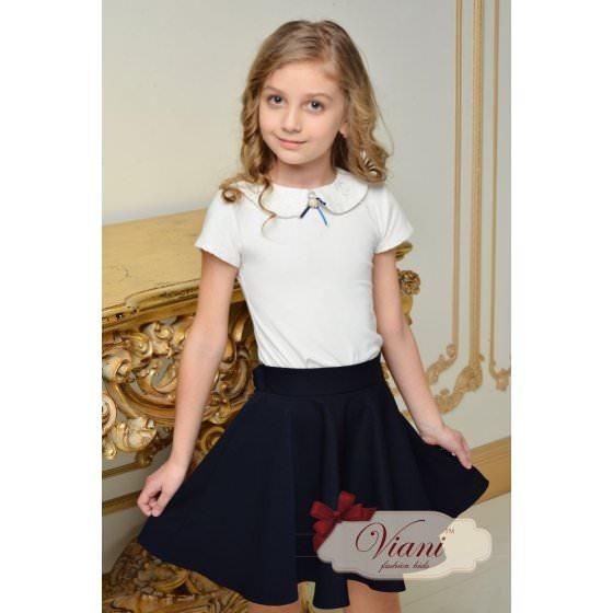 Блуза школьная короткий рукав Viani / Виани / Модные Детки