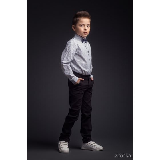 Школьные темно-синие брюки Зиронька / Zironka