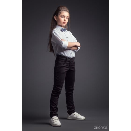 Темно-синие школьные брюки Зиронька / Zironka