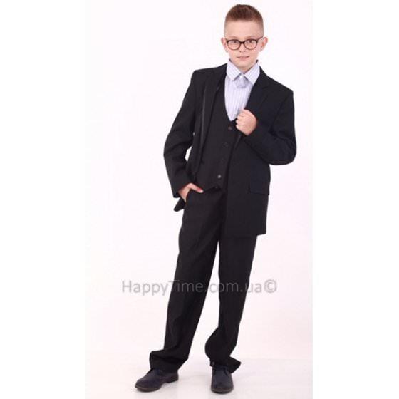Синий школьный костюм тройка для мальчика