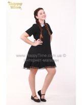 Школьное черное платье MONE / МОНЕ