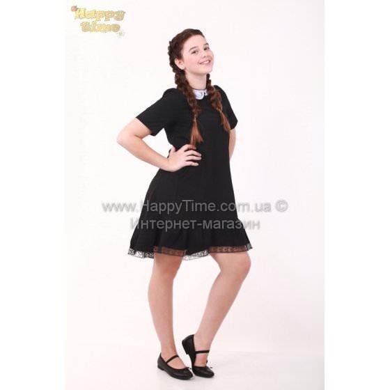 Школьное черное платье MONE / МОНЕ 1618