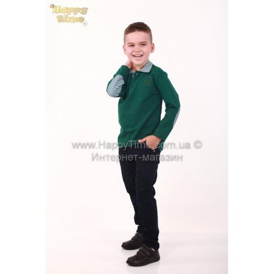Поло с длинным рукавом для мальчика