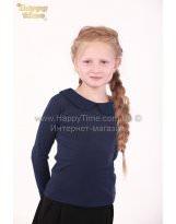 Школьная синяя блузка длинный рукав Viani / Виани / Модные Детки