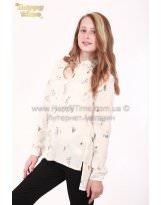 Школьная блузка - рубашка длинный рукав Viani / Виани / Модные Детки