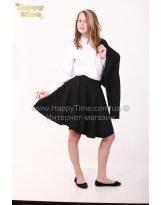 Черная средней длины школьная юбка Viani / Виани
