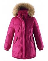 Зимняя удлиненная вишневая Куртка - пуховик REIMA