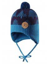 Зимняя синяя шапка-бини Reima - Рейма Ylls 518430/6490