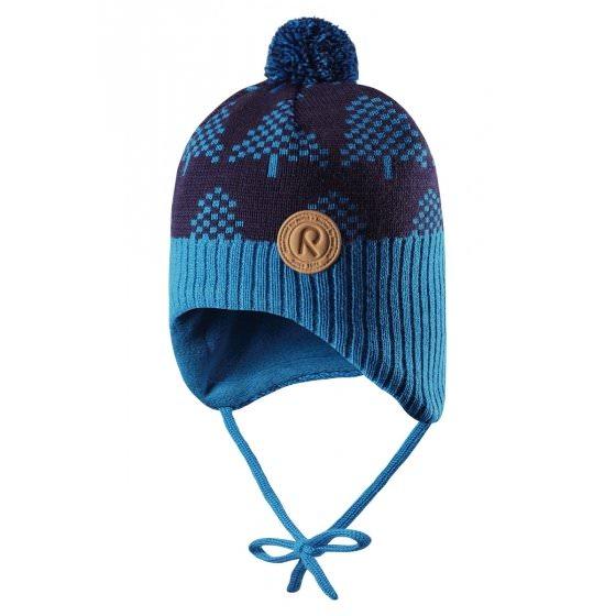 Зимняя синяя шапка-бини Reima Ylls 518430/6490 HappyTime