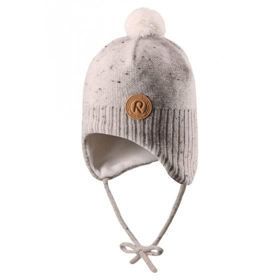Зимняя бежевая шапка-бини Reima | Рейма Ylls 518430/0100