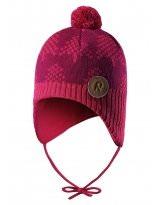 Зимняя малиновая шапка-бини Reima - Рейма Ylls 518430/3560