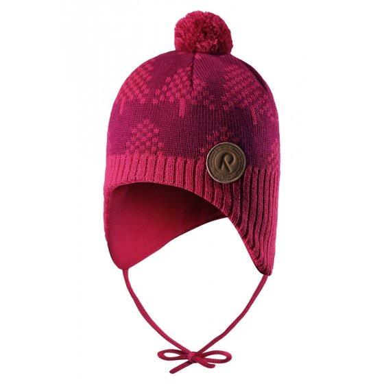 Зимняя малиновая шапка-бини Reima | Рейма Ylls 518430/3560