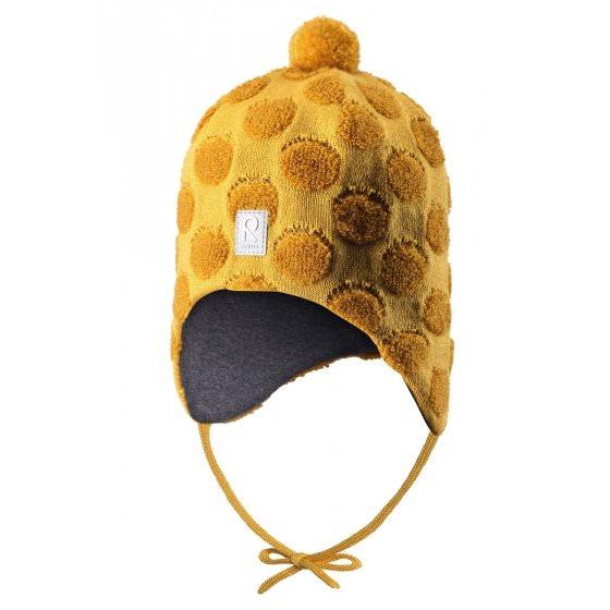 Зимняя желтая шапка-бини Reima | Рейма Saami 518431/2390