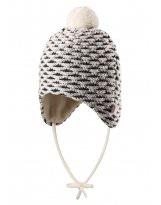 Зимняя белая шапка-бини для новорожденных Reima - Рейма Torkku 518418/0110