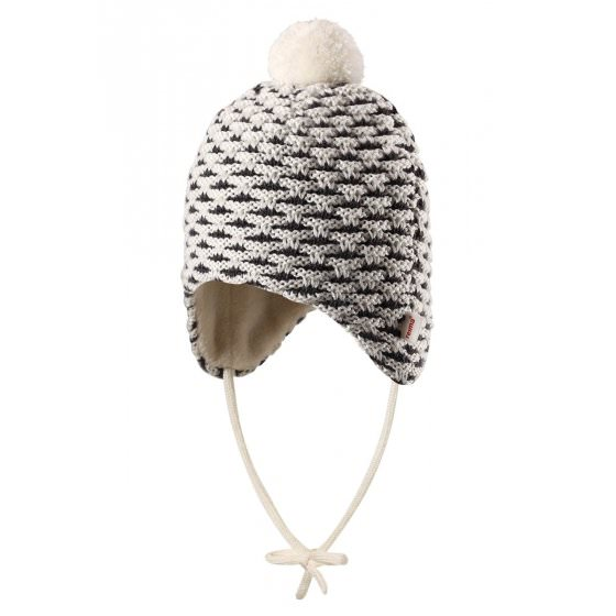 Зимняя белая шапка-бини для новорожденных Reima | Рейма Torkku 518418-0110