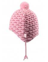 Зимняя розовая шапка-бини для новорожденных Reima | Рейма Torkku 518418/4010