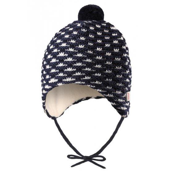 3f46424d281a9 Зимняя синяя шапка-бини для новорожденных Reima | Рейма Torkku 518418/6980