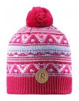 Зимняя малиновая шапка для подростков Reima - Рейма Neulanen 538026/3560