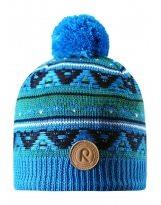 Зимняя синяя шапка для подростков Reima - Рейма Neulanen 538026/6490