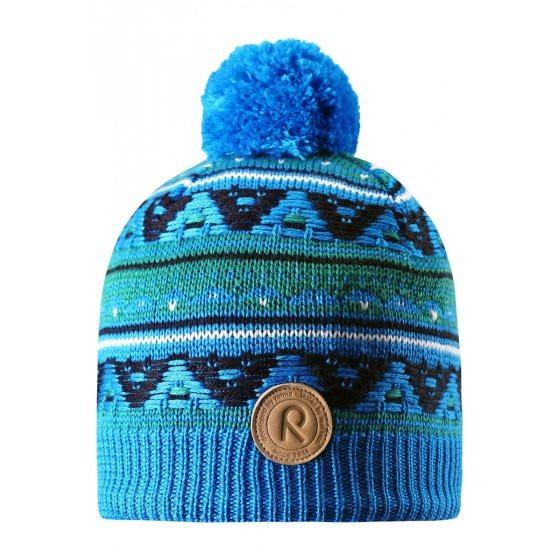 Зимняя синяя шапка для подростков Reima | Рейма Neulanen 538026/6490