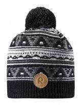 Зимняя черная шапка для подростков Reima - Рейма Neulanen 538026/9400