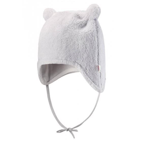 Зимняя флисовая белая шапка для новорожденных Reima | Рейма Leo 518419/9140