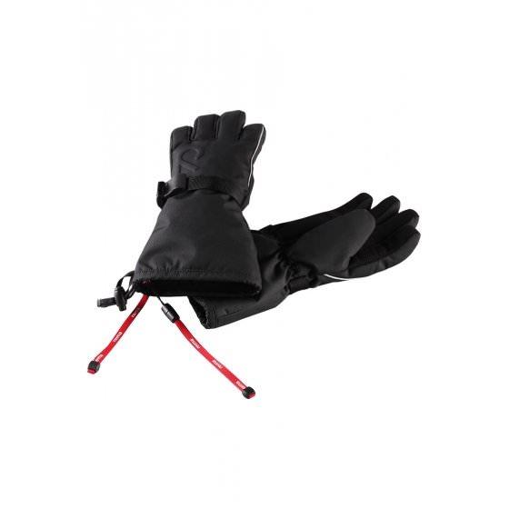 Зимние черные непромокаемые перчатки Reimatec® Saariselk 537005/9990 HappyTime