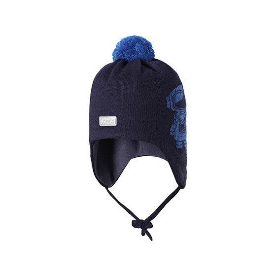 Теплая зимняя темно-синяя шапка Lassie | Ласси by Reima 718725/6960 HappyTime