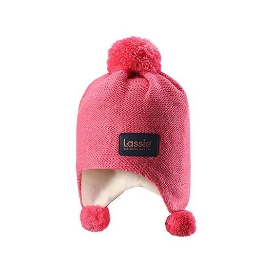 Теплая розовая зимняя шапка Lassie | Ласси by Reima 728717/3320