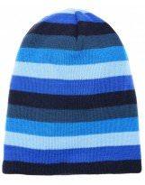Зимняя темно-синяя шапка в полоску Lenne - Ленне SCOOP