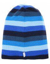 Зимняя темно-синяя шапка в полоску Lenne | Ленне SCOOP 17396/680