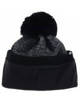 Зимняя черная шапка с бубоном Lenne | Ленне SILAS 17397/9890