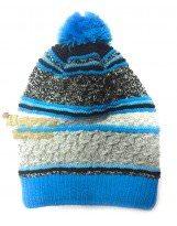 Зимняя голубая шапка с бубоном Lenne - Ленне SIMY