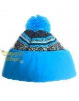 Зимняя голубая шапка с бубоном Lenne | Ленне SIMY 17397A/637
