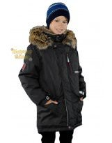 Парка черная зимняя Lenne - Ленне куртка WOODY