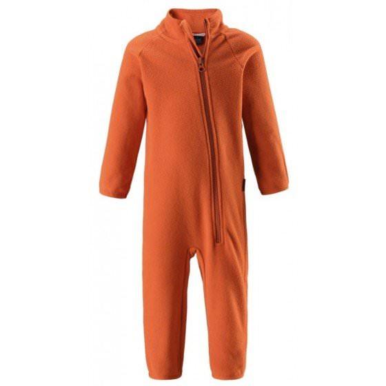 Оранжевый флисовый комбинезон L716700/2890 магазин HappyTime