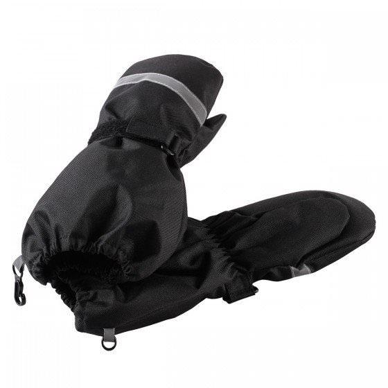Зимние черные рукавицы краги LASSIE | ЛАССИ BY REIMA 727717/9990 магазин HappyTime