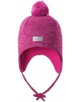 Теплая зимняя темно-синяя шапка Lassie | Ласси by Reima 718733/4801