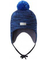 Теплая зимняя темно-синяя шапка Lassie | Ласси by Reima 718733/6961