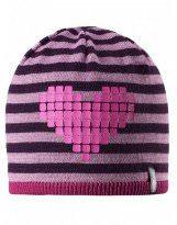 Теплая зимняя сиреневая шапка Lassie - Ласси