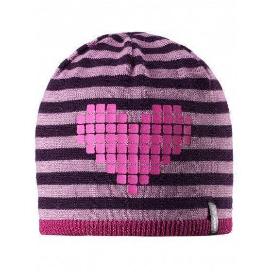 Теплая зимняя розовая шапка Lassie | Ласси by Reima 728718/9991
