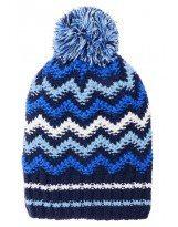 Зимняя синяя шапка с бубоном Lenne - Ленне TANNER 17392A