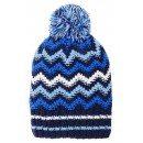 Зимняя синяя шапка с бубоном Lenne | Ленне TANNER 17392A